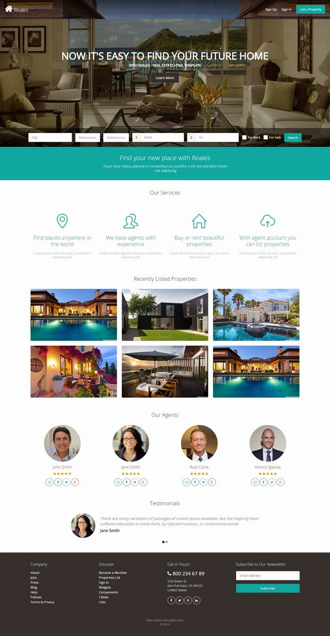 New Real Estate Premium Theme
