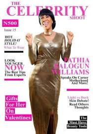 FATHIA BALOGUN + COVERS CELEBRITY MAGAZINE