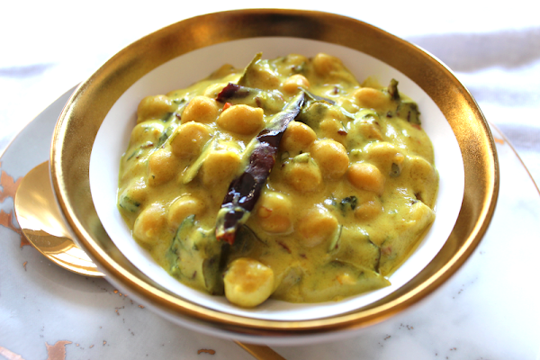 Chickpeas in a Coconut Karhi Sauce