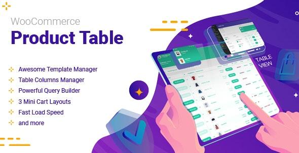 WooCommerce Product Table v2.2.0