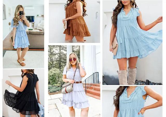 1. BTFBM Casual Summer Drawstring Dresses - Features :