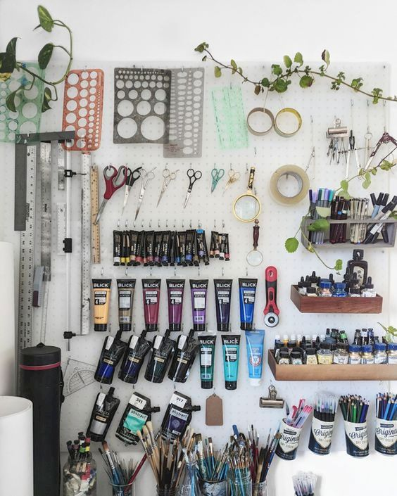 art studio organize decor idea