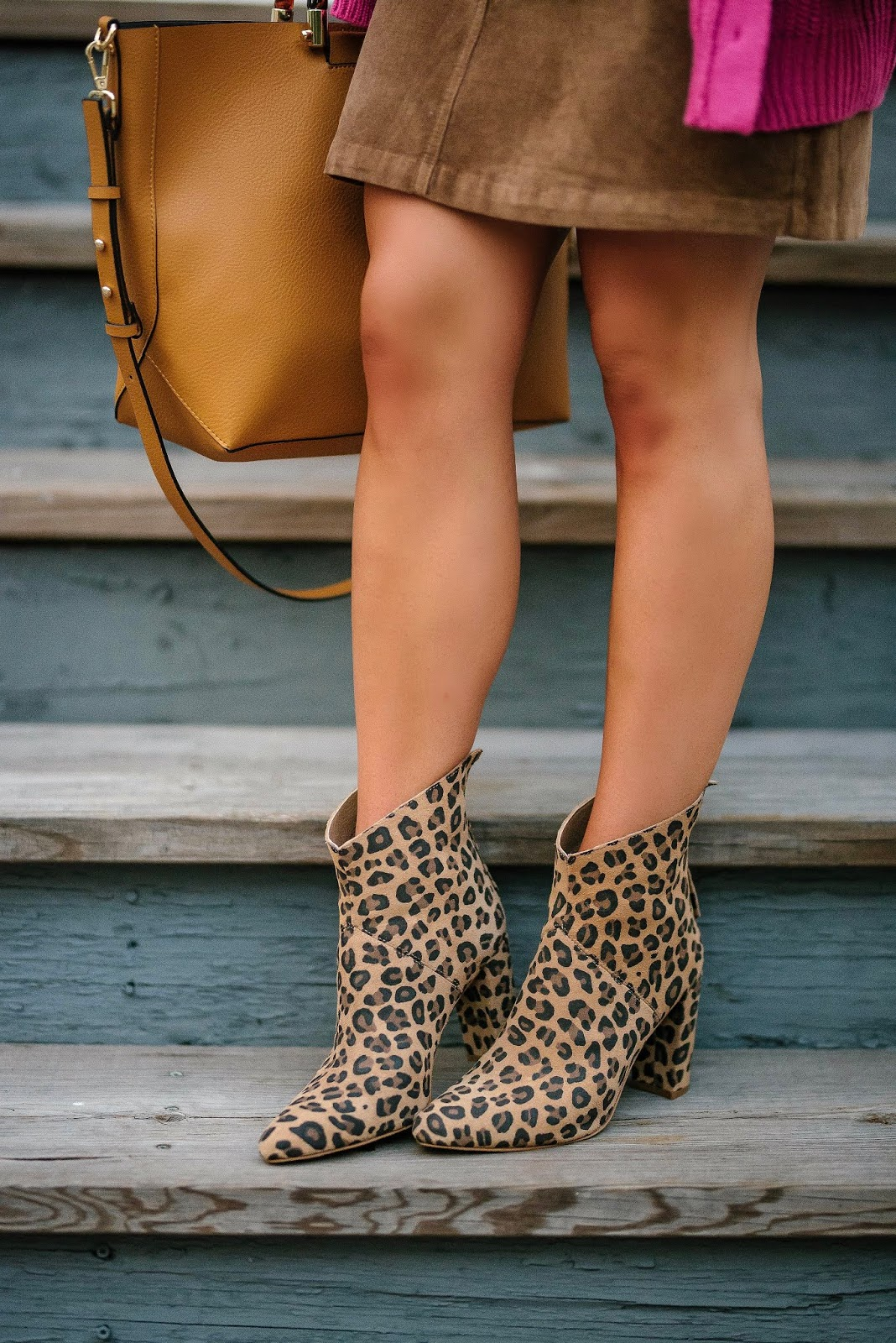 Fall Style: Matisse Tinsel Leopard Booties - Something Delightful Blog