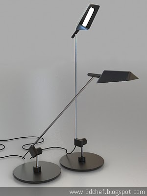 standing lamp free 3d model