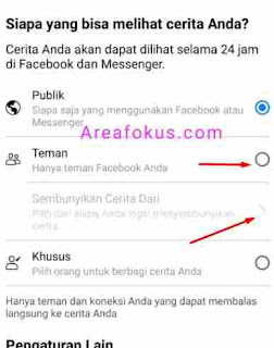 Cara Menyembunyikan Story FB
