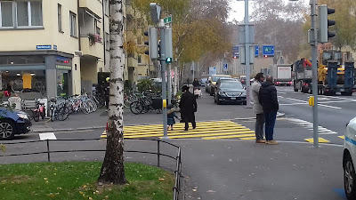 Orthodox Jews in Wiedikon, Zurich, Switzerland