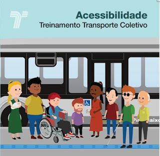 """Cartilha """"Acessibilidade Treinamento Transporte Coletivo"""""""