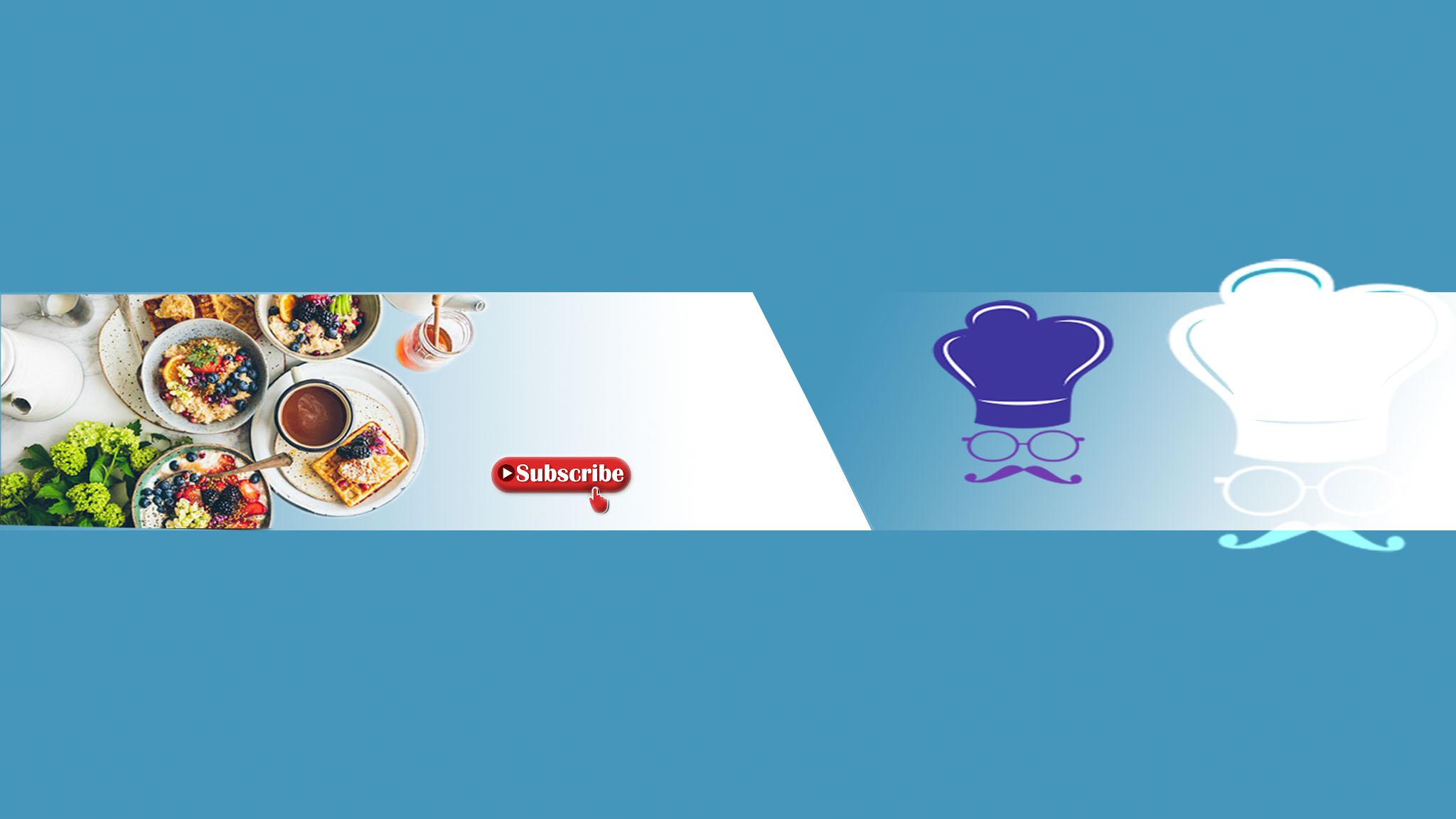 غلاف يوتيوب طبخ بدون اي اسم Psd غلاف لليوتيوب مميز لقنوات الطعام