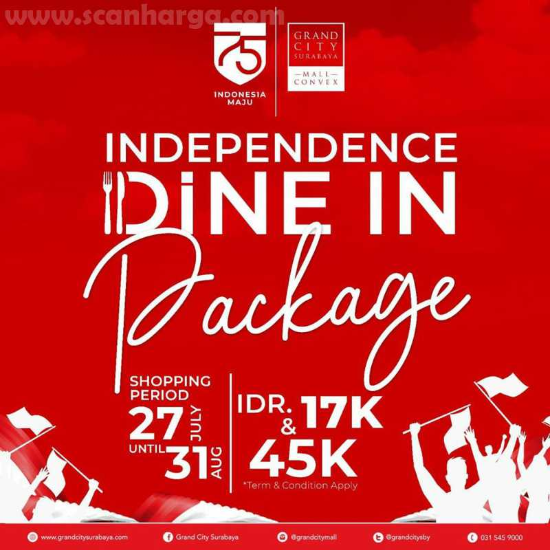 Promo Grand City Dine In Package IDR 45K + Paket Minuman Mulai 17RB! 1