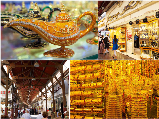 Gold Ornaments Display- Gold Souk Dubai