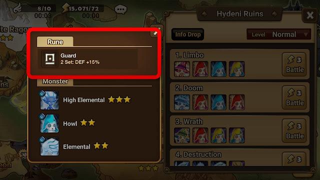 Area dan Informasi Drop Rune