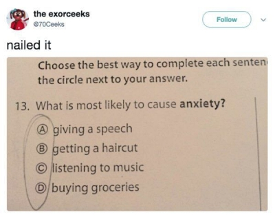meme about anxiety