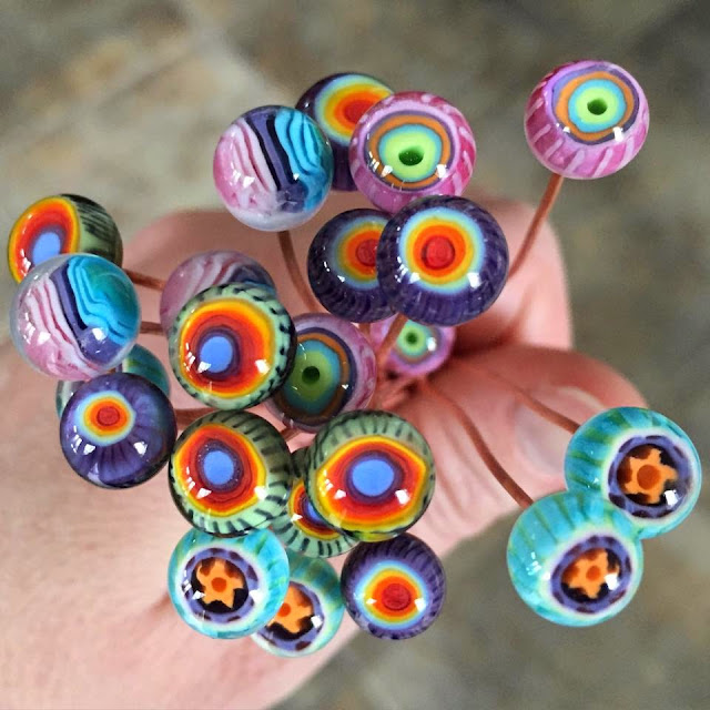 lampwork headpins glass addictions jen cameron