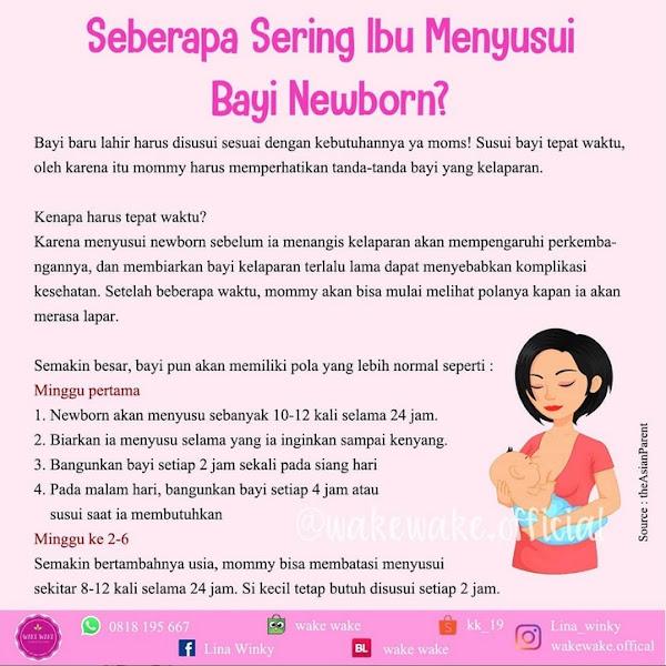 Seberapa Sering Ibu Menyusui Bayi Baru Lahir