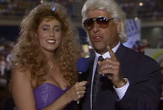 WCW Clash of the Champions XII - Missy Hyatt interviews Ric Flair