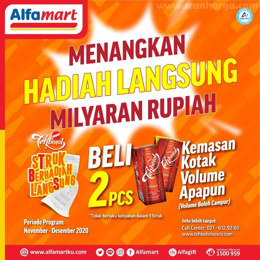 Beli 2 pcs Teh botol Sosro Kotak di ALFAMART Berhadiah Langsung Total Milayaran Rupiah