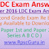 RPSC LDC Answer Key, 23 October 2016 by Parishkar, Abhigyan, Shree Ram, Utkarsh Coaching