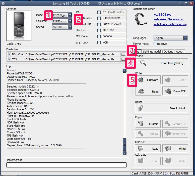 Firmware Samsung C5212i.