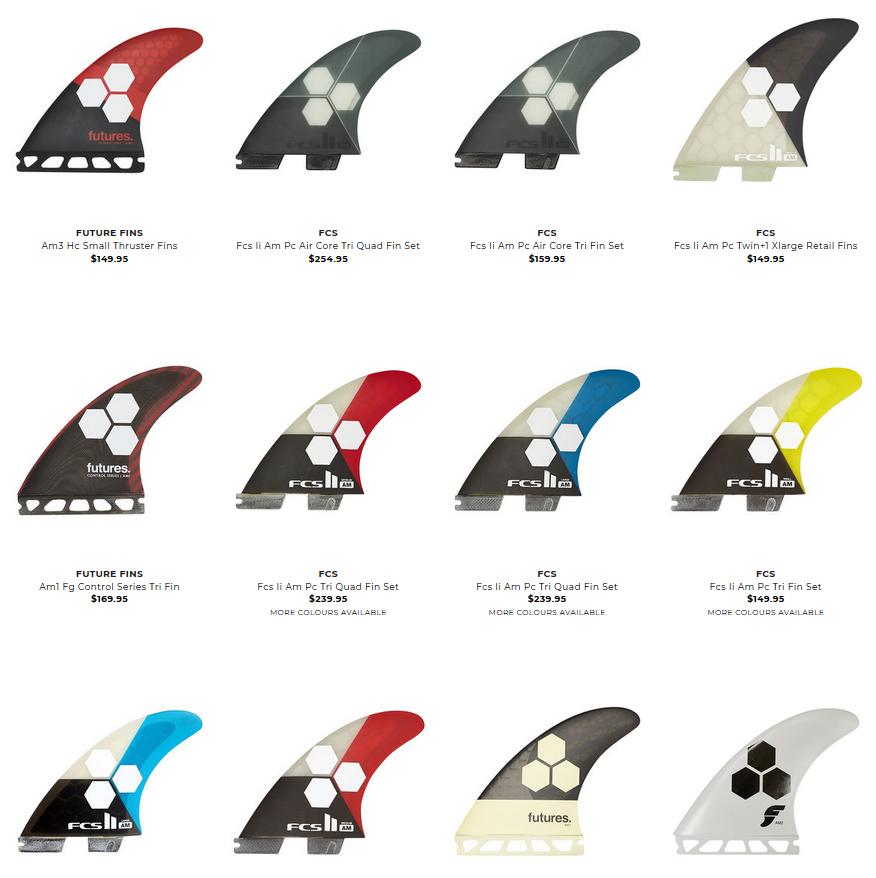 アルメリックのAMフィンデザイン一覧表