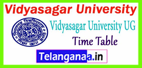 Vidyasagar University Part 1 2 3  BA B.Sc B.Com UG Time Table 2019