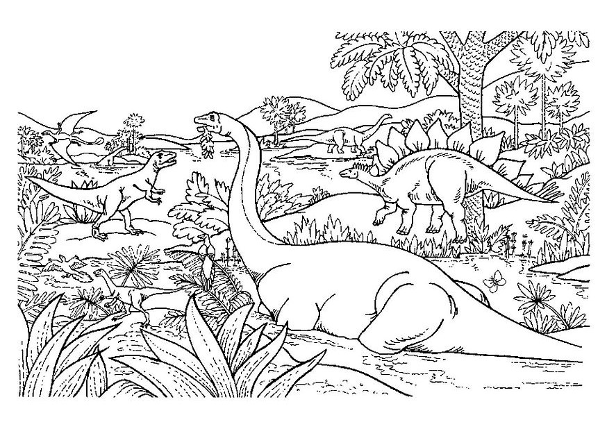 Dinosaurs coloring pages 57