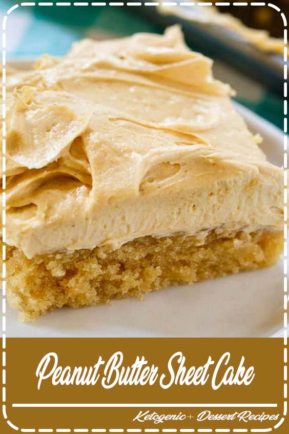 Peanut Butter Sheet Cake is a moist sheet cake topped with a super creamy and sweet peanut Peanut Butter Sheet Cake