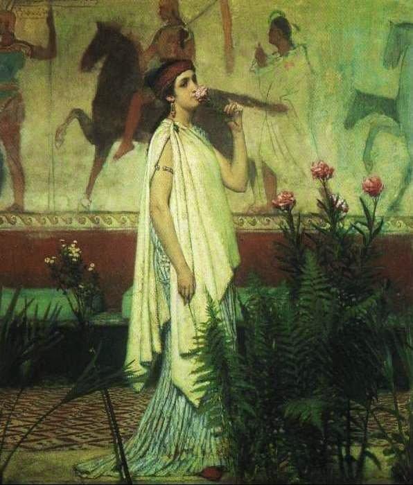 Mulher Grega - As mais belas pinturas de Lawrence Alma-Tadema - (Neoclassicismo)