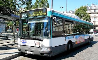 get around Paris by bus