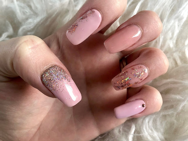 New Nails | Pink & Rose Gold