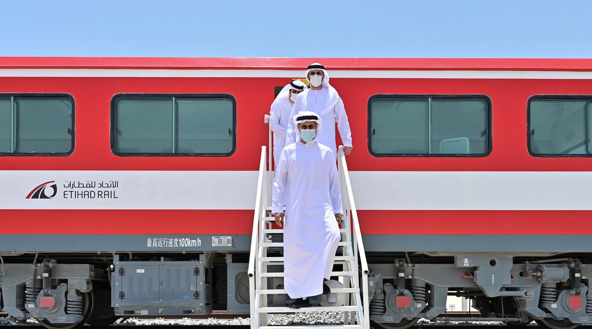 Sheikh Theyab inaugurates track-laying works at Seih Shuaib site