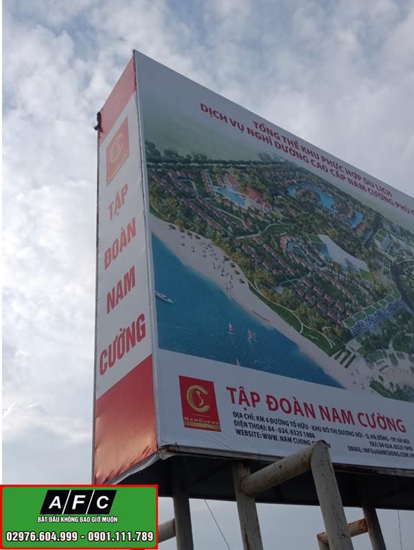 Thi công Pano quảng cáo ngoài trời tại Phú Quốc