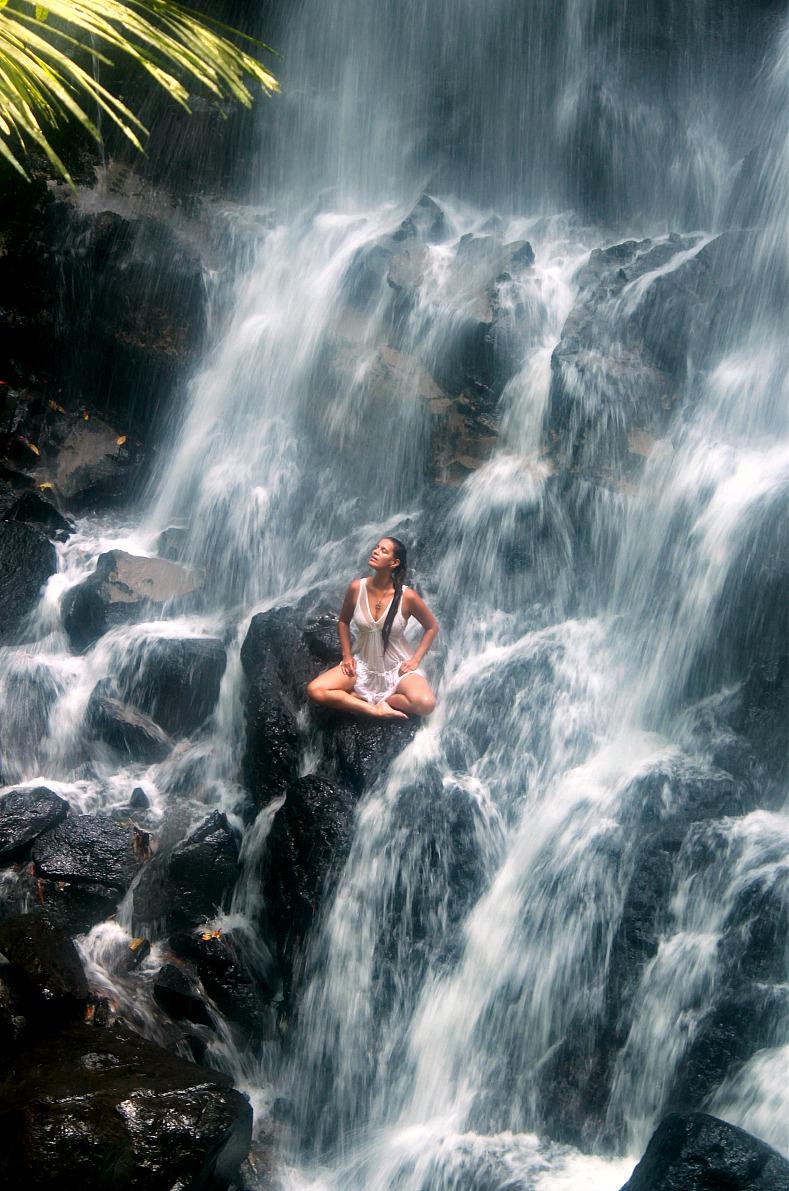 Tamara Chloé, Kanto Lampo waterfall, Bali, Indonesia