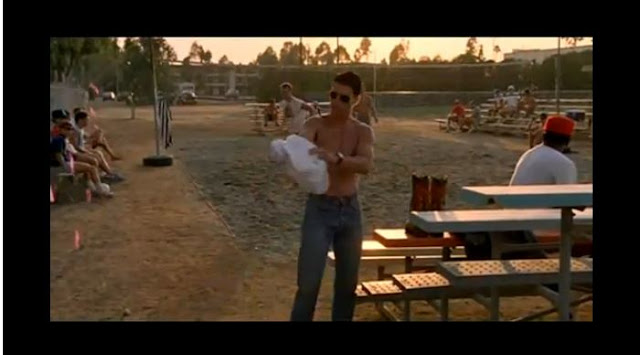 goose and maverick volleyball scene in meet