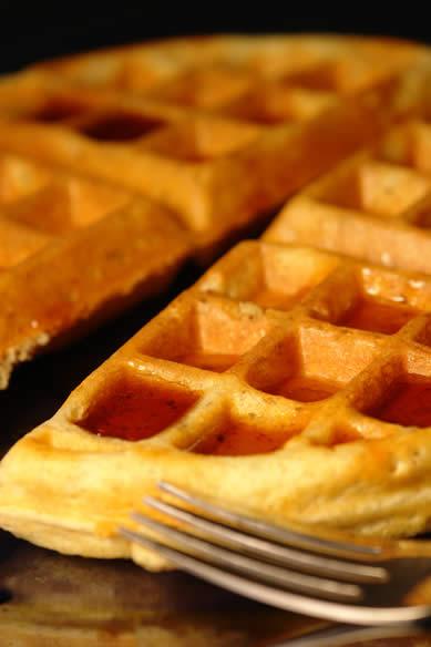 Gluten-Free Banana Walnut Waffles
