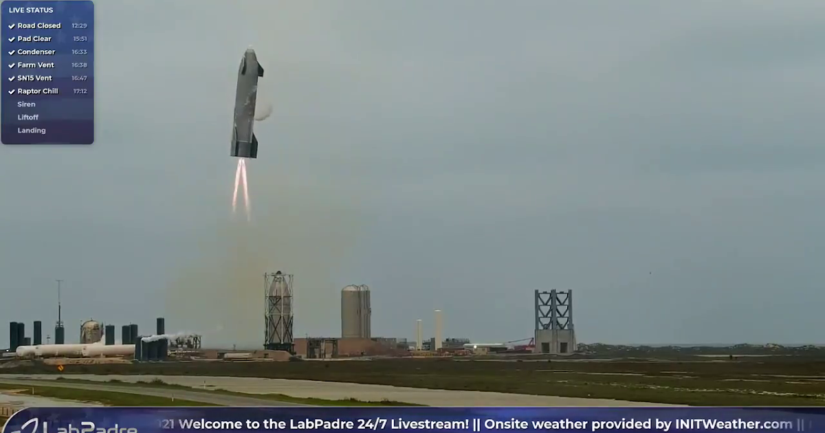 SpaceX successfully lands Starship SN15 test vehicle!