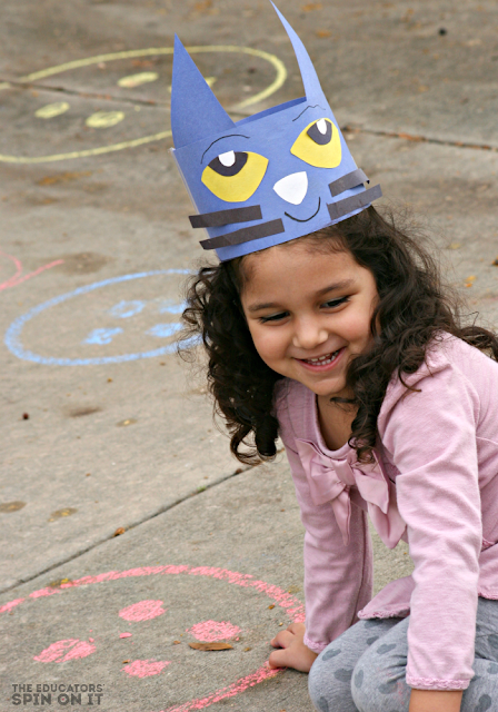 Pete the Cat Movement Activity for Kids inspired by Pete the Cat and his Four Groovy Buttons