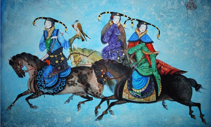 Монгольский художник. Заясайхан Самбуу 24