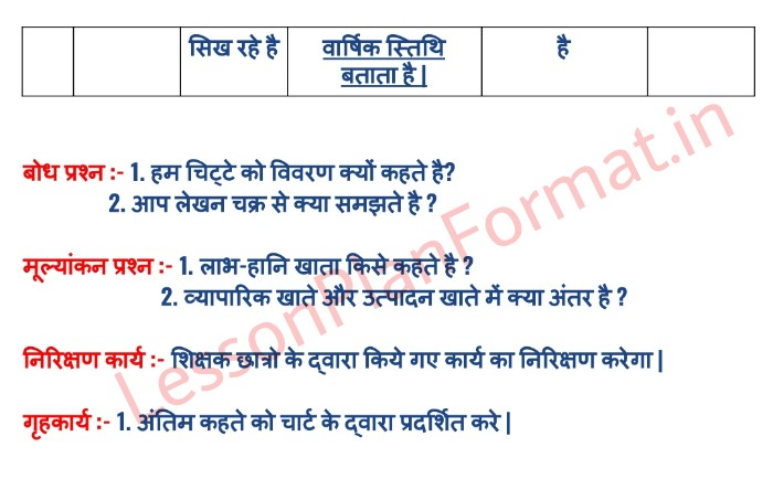 B.ed Lesson Plan In Hindi Of Commerce