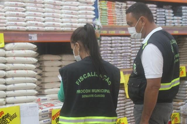 Senador Canedo: Estabelecimentos comerciais são fiscalizados