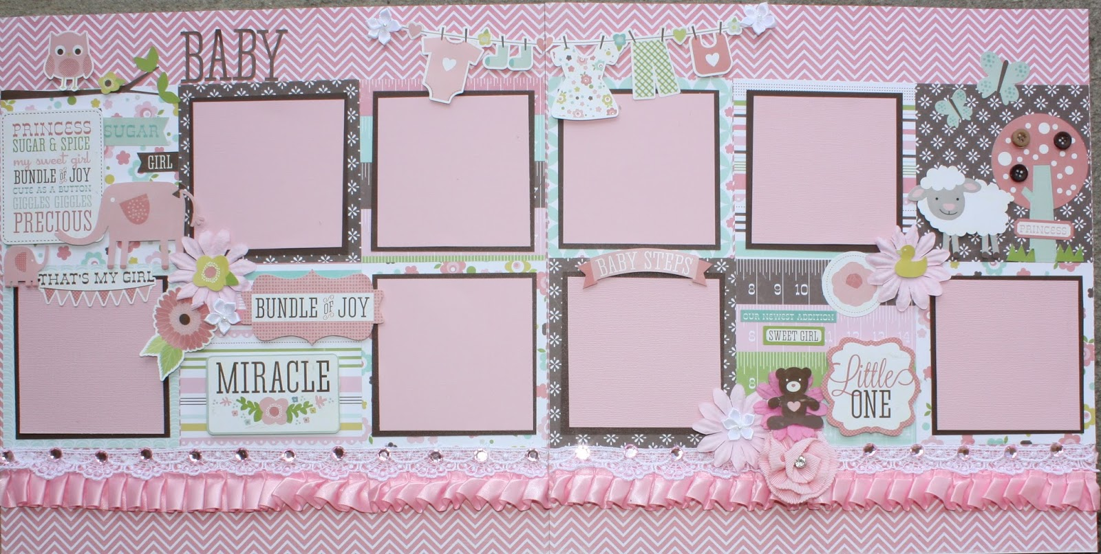 Amazing Grace Paper Crafts Baby Boy And Baby Girl Layouts