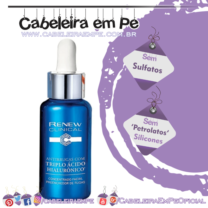 Concentrado Facial Preenchedor de Rugas Renew Clinical - Avon