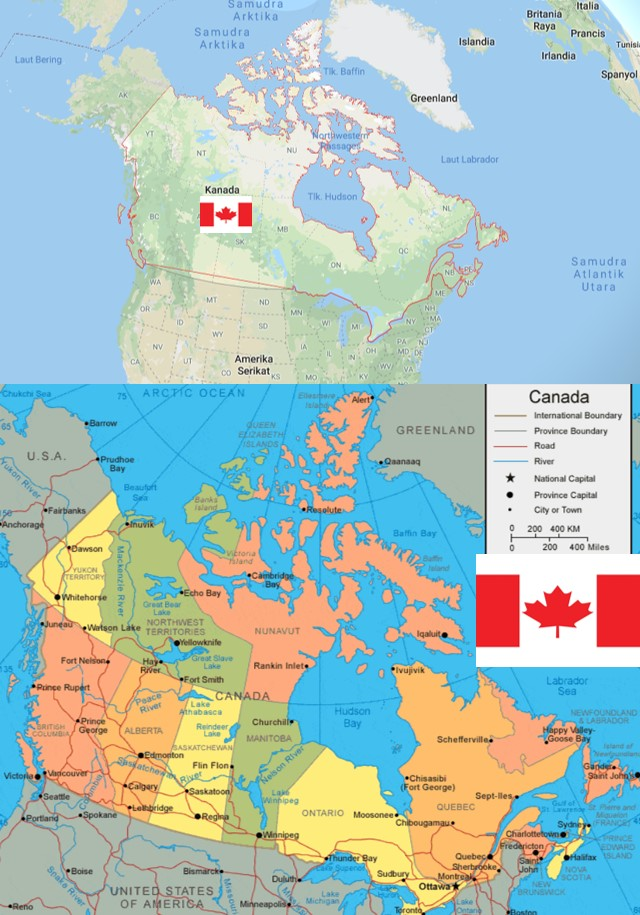 peta negara kanada