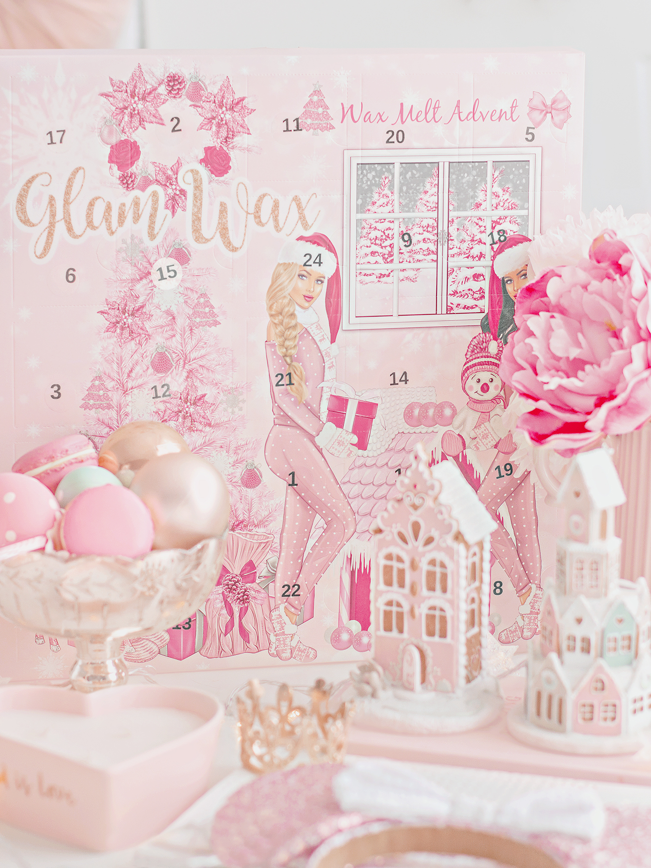 Photo of Glam Wax Advent Calendar with festive decor
