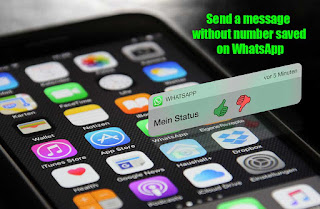 How to send a message without number saved on WhatsApp