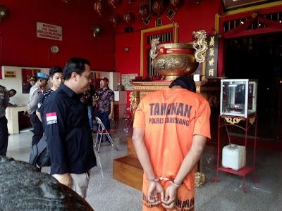 Polisi Ringkus Pelaku Teror Klenteng di Karawang