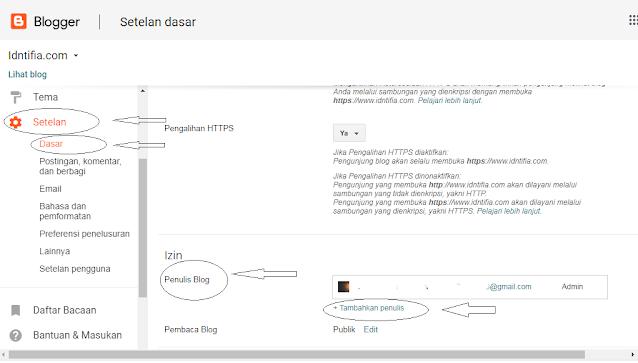 cara memindahkan blog ke email lain
