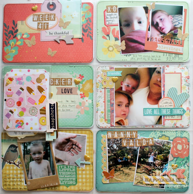 """Project Life week 41"" by Bernii Miller using the Spring Becky Higgins Project Life cards."