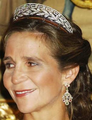 marichalar meander tiara diamond infanta elena spain