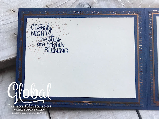 By Angie McKenzie for Global Creative Inkspirations; Click READ or VISIT to go to my blog for details! Featuring the So Many Stars Bundle (available at 10% off), God's Peace and Light & Peace Cling Stamp Sets along with the Brightly Gleaming Speacialty Designer Series Paper and Copper Foil Sheets; #somanystarsbundle #godspeacestampset #lightandpeacestampset #stitchedstarsdies #angels #stampinupdies  #christmascards #reasonfortheseason #christmas #copper  #globalcreativeinkspirations  #globalcreativeinkspirations