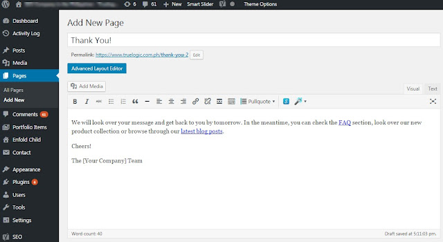 Creating a Thank You Page in WordPress